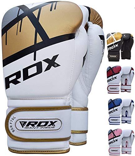 RDX Boxhandschuhe Muay Thai Boxsack Training Sparring Kickboxen Sandsack Maya Hide Leder Boxing Gloves (MEHRWEG)