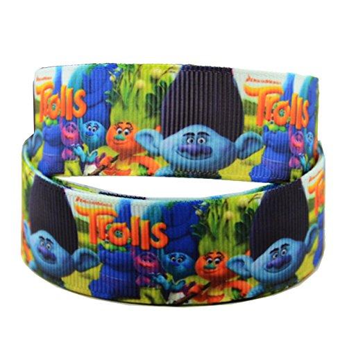 2m x 22mm, blau Boy Trolle Ripsband für Birthday Cake 's, Hochzeit Kuchen,, Geschenkpapier Mütter Tag