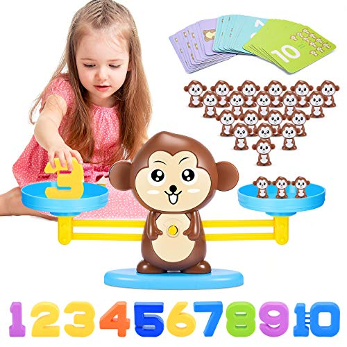 ATOPDREAM Toys for 3 4 5 6 7 8 Year Old Girls Boys, Monkey Balance Math Game...