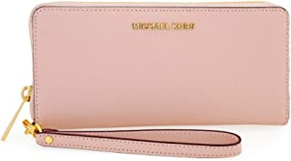 Michael Kors Jet Set Travel Leather Continental Wristlet SOFT PINK