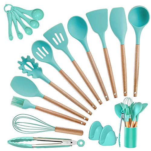 Kitchen Utensils Set Silicone Cooking Utensils - SZBOB Heat Resistant Kitchen Tools...