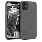 kwmobile Cover per Apple iPhone 11 - Custodia Morbida in Tessuto per Cellulare - Soft Case...