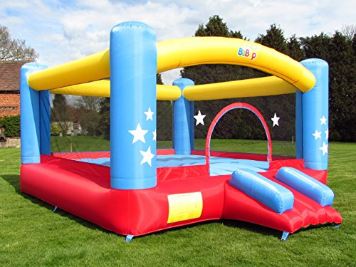 BeBoP Star Palace Kids Inflatable Bouncy Castle with Electric Fan