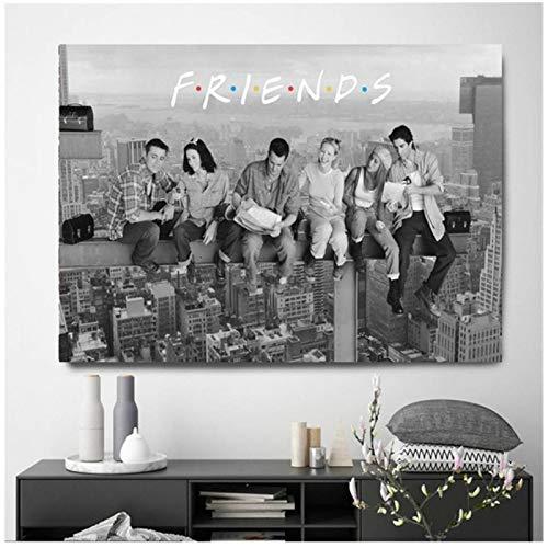 Yxjj1 Friends TV Show carteles e impresiones clásicos arte de pared cuadro decorativo lienzo para la decoración del hogar de la sala de estar -24x36 en sin marco