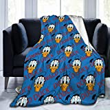 Kaopey Donald Duck Cozy Soft Flannel Blanket Luxury Bed Throw Blanket for Sofa Chair Bed for Couch Living Rooom