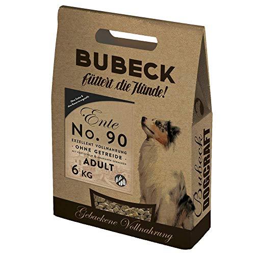 Bubeck | Trockenfutter für Hunde mit Ente | getreidefrei & gebacken | hoher Fleischanteil | Premium Hundefutter (Ente, 6 Kg)