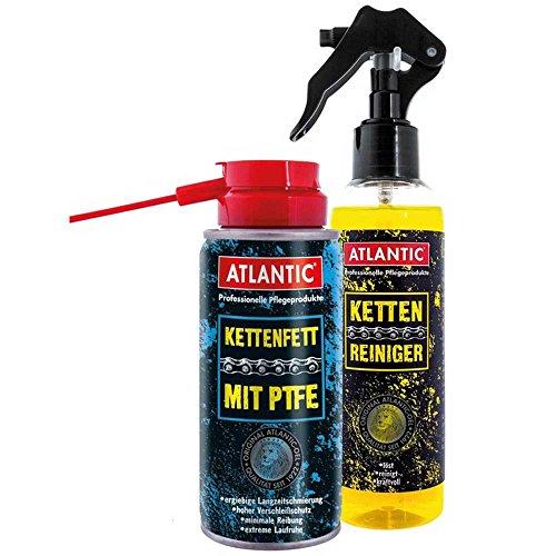 Atlantic Ketten-Pflegeset (8800K) bestehend aus 1x 200 ml Kettenreiniger (5195) + 1x 150 ml Kettenfett mit PTFE (3592)