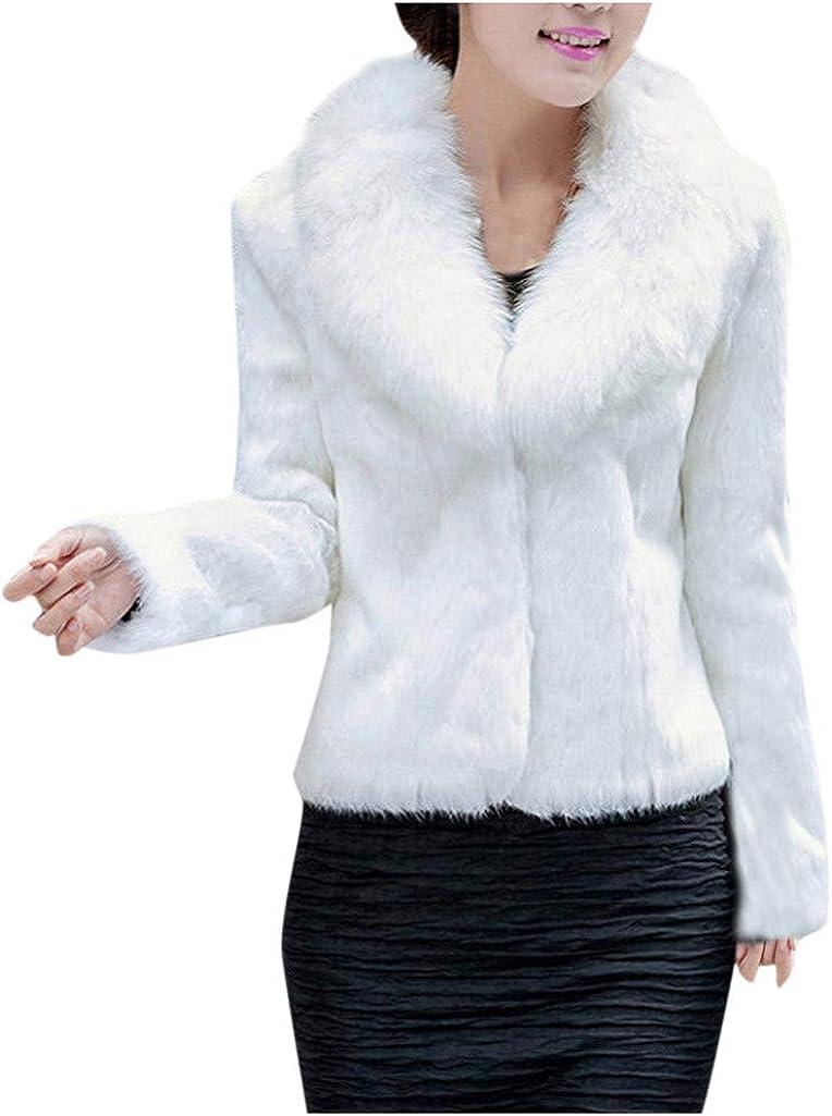 Faux Fur Jacket Women NRUTUP Plush Collar Winter Jacket Ladies Black White Fox Fur Crop Jacket Casual Fuzzy Outwear