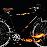 Wandtattoo Loft Fahrradaufkleber 22 STK. Feurige Flammen Feuer Fahrrad Sticker Fahrraddesign Kinderfahrrad