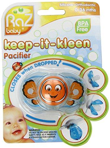 RaZbaby Keep-It-Kleen - Chupete de cierre automático