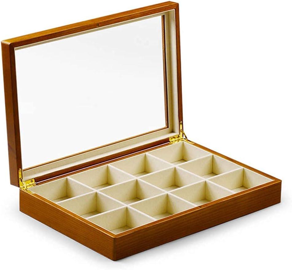 erddcbb Ranking TOP19 Solid Wood Jewellery Storage Bracelet Houston Mall Ring Box Organiser