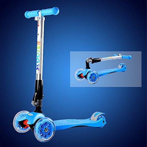 Patinetes Infantil Plegable Scooter/Baby Swing/Tablero de/ Slide Tackle-Azul