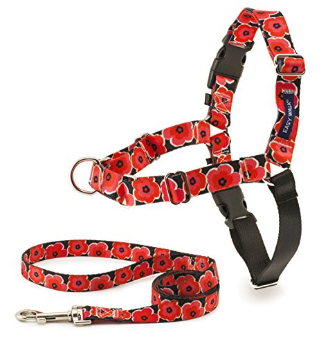 PetSafe EWH-C-HC-L-POP Easy Walk Chic Harness, Large, Poppies