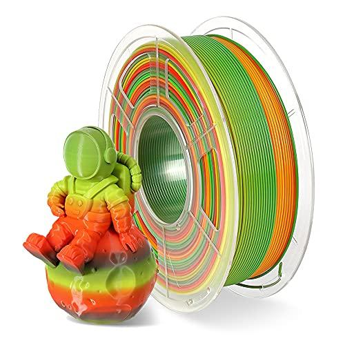 Filamento de impresión 3D Pla de 1,75 mm, Rainbow PLA Filamento para impresora 3D y bolígrafo 3D, precisión dimensional +/- 0,02 mm, 1 kg 1 bobina