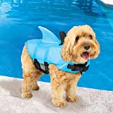 SwimWays Sea Squirts Doggie Jacket Blue Medium