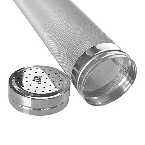 Dry Hopper Brewing Corny Keg Dry Hop Filter, Stainless Steel Dry Hopper - 300 Micron Mesh Dry Hop Strainer for Cornelius Kegs Brewing Equipment