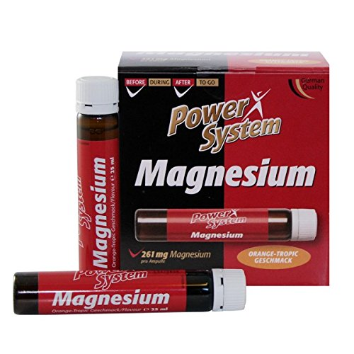 Power System Magnesium + Vitamin C Liquid 20X25ml Ampullen Orange-Tropic