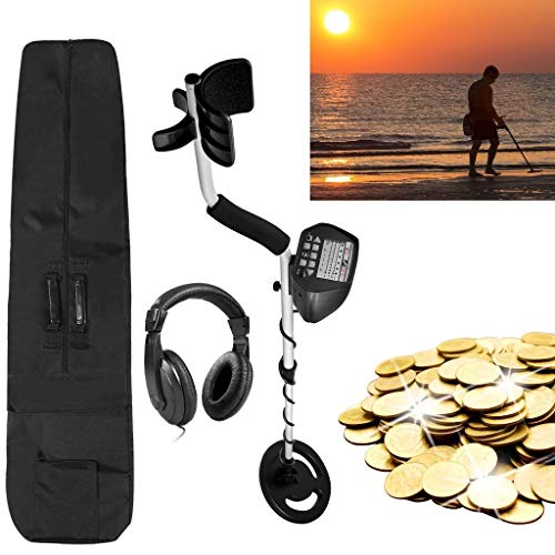 American Hawks Gold Silver Metal Detector for Adults Kids Pinpoint | Display Type of Object & Depth | Waterproof Search Coil Headphone Carry Bag | High Accuracy | Treasure Hunting 3 Modes Professional