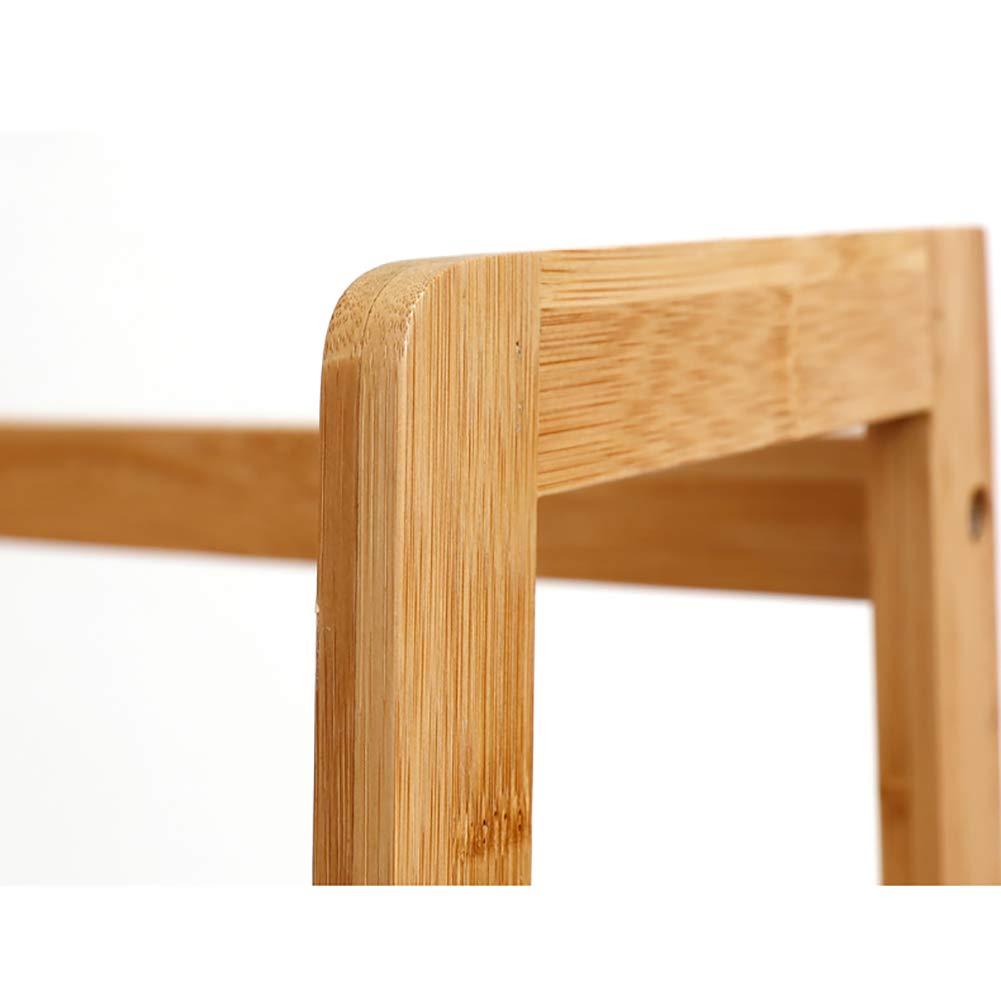 DULPLAY Repisa Escalera Pie de Estantería de bambú Madera Espesado Estantería Decorativa Creativo Librería Alta Montaje fácil Multiusos para hogar u Oficina -A 57.5x31x120cm(23x12x47inch): Amazon.es: Hogar
