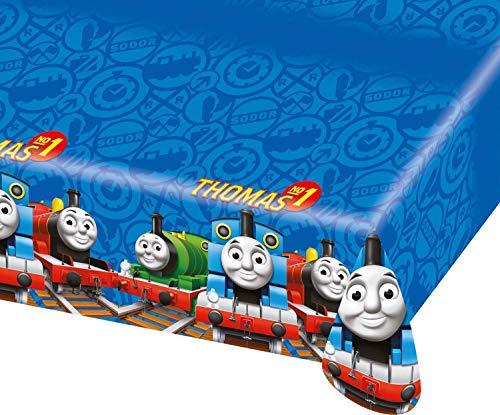 Amscan 552160 - Tischdecke Thomas und seine Freunde, Plastik, Größe 120 x 180 cm, Kindergeburtstag