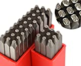 WKS TOOL Wokesi 1/16'(1.5mm) High Hardness Carbon Steel Uppercase Number and Letter Ball Pein Hammer Hand Punch Metal Stamp Set for Mold Jewel Making Die (1.5mm Number&Letter)