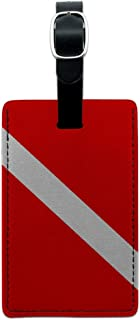 Graphics & More Flag-Scuba Diver Dive Leather Luggage Id Tag Suitcase Carry-on, Black