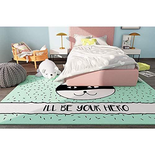 ZENGZHIJIE Alfombra Alfombra Luminosa Sala de Estar de Lujo Dormitorio clásico nórdico Minimalista de Estilo Europeo cómodo, Suave y fácil de Limpiar (Tama?o:160 * 230) (Color : 200 * 300)
