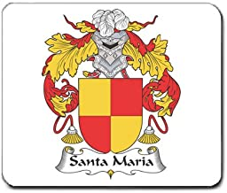 Santa Maria Family Crest Coat of Arms Mouse Pad