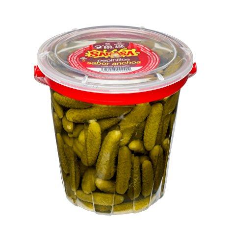 Pepinillos sabor anchoa, Paquete de 6 x 800gr - Total: 4800 gr