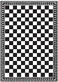 Melody Jane Puppenhaus Checker Mono Viktorianisch Fliese Boden Schwarz & Weiß Glänzend Karte Blatt