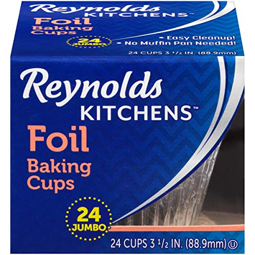 Reynolds Jumbo Foil Cupcake Liners, 12 Packs of 24 (288 Total)