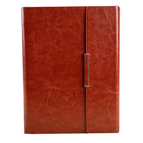Cuadernos Libreta Piel de Primera Calidad Recargable Diario Cubierta con Alineado del Cuaderno, Comidas de Cuero de la PU, el Bolsillo Interno, 100gsm Papel de Calidad Blocs de Notas y Diarios