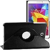 ebestStar - Funda Compatible con Samsung Galaxy Tab 4 8.0 SM-T330, T331 SM-T335 Carcasa Cuero PU, Giratoria 360 Grados, Función de Soporte, Negro [Aparato: 210 x 124 x 8mm, 8.0'']