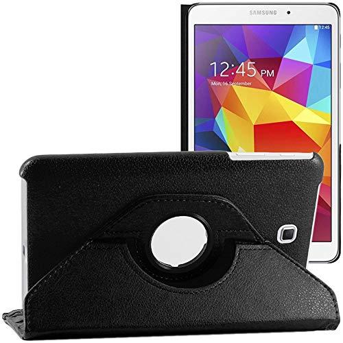 ebestStar - kompatibel mit Samsung Galaxy Tab 4 8.0 Hülle SM-T330, T331 SM-T335 Rotierend Schutzhülle Etui, Schutz Hülle Ständer, Rotating Hülle Cover Stand, Schwarz [Tab: 210x124x8mm, 8.0'']