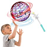 XIANGMENG Flynova Pro Flying Ball Toys - Globe Shape Magic Controller Mini Drone Flying Toy Flying Spinner 360° Rotating Spinning LED Lights for Kids Adults -2021 Upgraded (with Magic Controllers)