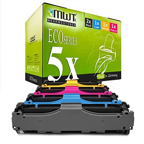 5X MWT kompatibel Toner für HP Color Laserjet CP 2024 2025 2026 2027 X DN N ersetzt CC530A-33A 304A