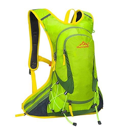 reiten fahrrad fahren oder rucksack tasche rucksack flüssigkeitszufuhr rucksack für outdoor - sportarten laufen reisen bergsteigen mit helm netto wasserdicht atmungsaktive ultralight 18l 5farben , green