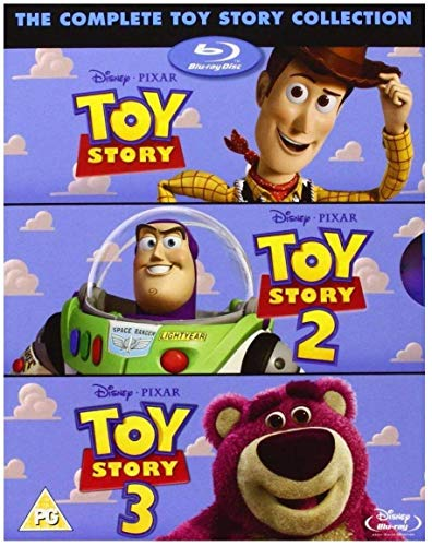 Toy Story TRILOGY [Blu-Ray Box Set] Complete 1, 2, 3, Disney & Pixar All 3 Movies