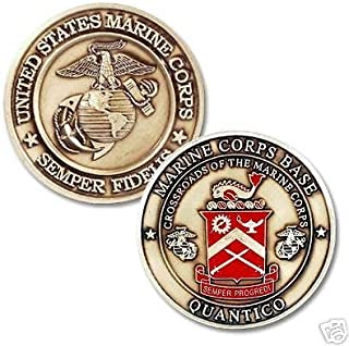 Coins For Anything Inc Marine Corps Base Quantico Coin