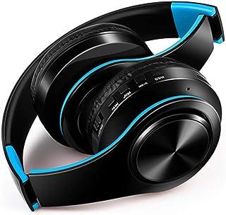 MDHANBK Auriculares inalámbricos Bluetooth, Auriculares estéreo, Auriculares para música compatibles con Tarjeta SD con mi...