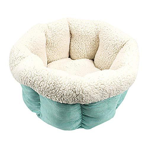 AOSHE Round Winter Warm Pet Sleeping Bag Soft Pet Bed Kennel Dog House Cat Sleeping Bag Cute Puppy Cushion-Green