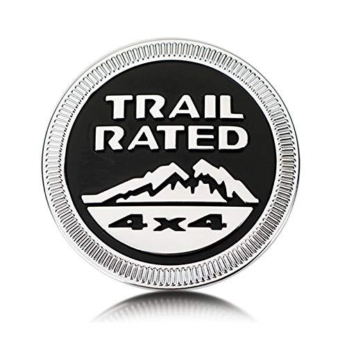 None/Brand Trail Rated 4X4 Metallo Distintivo Stemmi Emblemi Sticker per J-EEP Wrangler Cherokee Liberty,Nero