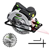 GALAX PRO 12A 5500RPM Corded Circular Saw with 7-1/4' Circular Saw Blade and Laser Guide Max Cutting...