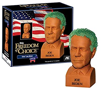 Chia Pet Joe Biden with Seed Pack Decorative Pottery Planter Easy to Do and Fun to Grow Novelty Gift Perfect for Any Occasion Terra Cotta