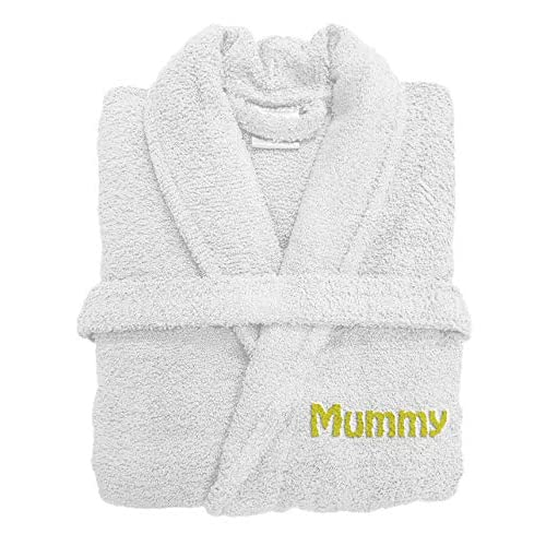 Spa Collection Personalised Embroiderd Luxury Terry Towelling Bath Robe  100% Egyptian Cotton 500GSM Extra Absorbent d364e0958
