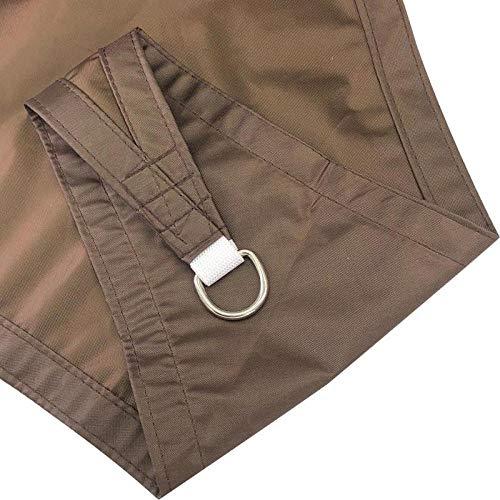 5 * 5 * 5m Dreiecksegel Segel, wasserdicht und UV-Schutz Schatten Netz-Braun,Sonnensegel Wetterschutz wasserabweisend