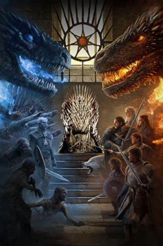 Poster Game of Thrones Ice and Fire promotionnel A4