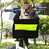GreeSuit Dog Bike Basket Safety Small Dog Cats Bicycle Handlebar Basket Bag Pet
