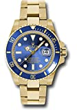 Rolex Oyster Perpetual 40MM 18K Yellow Gold Submariner Date with A Blue Cerachrom Rotatable Bezel and a Blue Index Dial.