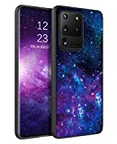 BENTOBEN Samsung Galaxy S20 Ultra Case, Slim Fit Glow in The Dark Soft Flexible Bumper Protective Shockproof Anti Scratch Case Cover for Samsung Galaxy S20 Ultra / 5G 6.9' (2020), Nebula/Galaxy Design